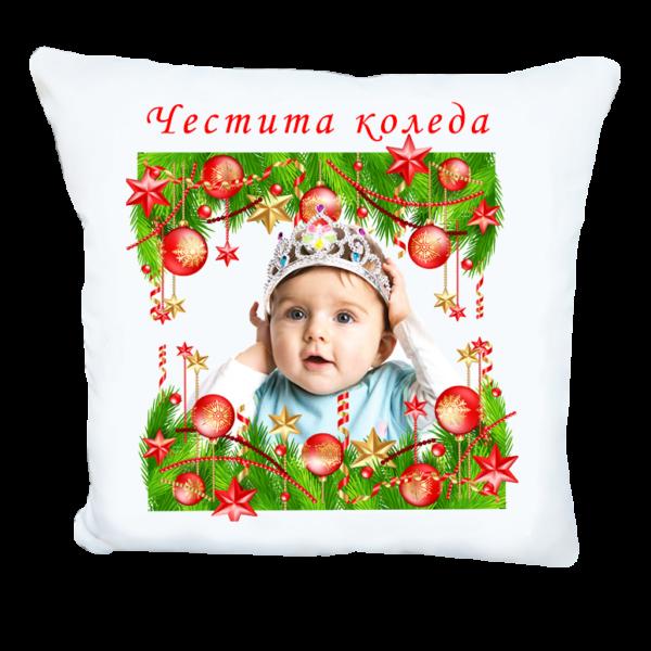 Коледна възглавничка за бебе