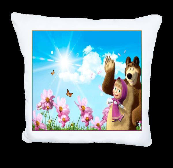 Маша и мечока подарък възглавничка