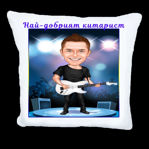 Карикатура за китарист
