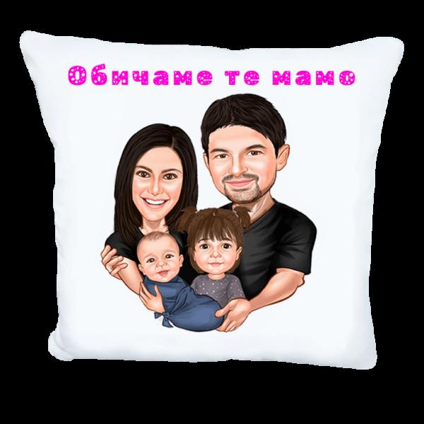 Семейна карикатура подарък