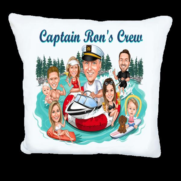 Семейна карикатура на яхта