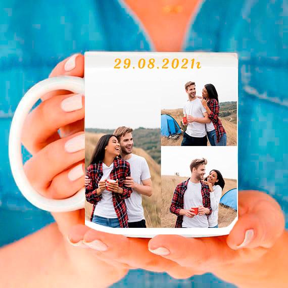Чаша със снимки колаж