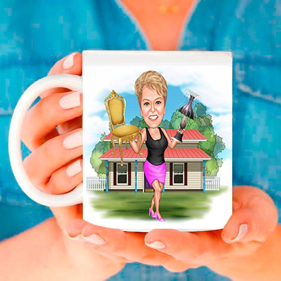 Чаша със снимка тип карикатура